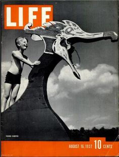 """August 16, 1937 LIFE Magazine cover """"Young Camper"""" (photo by George Karger)."""
