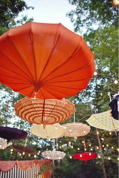 hanging parasols.  reminds me of the wynn las vegas.
