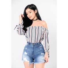 wp automatic <img> – Available In Red/Blue – Off Shoulder – Woven Top – Ties On Sleeves – Cotton Nylon - Curvy Outfits, Chic Outfits, Trendy Outfits, Summer Outfits, Fashion Outfits, Girls Fashion Clothes, Teen Fashion, Womens Fashion, Student Fashion