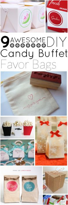 9 Awesome DIY Candy Buffet Favor Bags - A Candy Store's Blog | Featuring Jam + Toast's Cardboard Favor Box