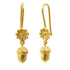 Dangle earrings solid 18k yellow gold by DragatakisJewellery