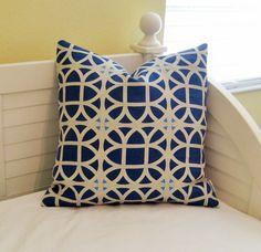 Waverly Lattice Linen Designer Pillow Cover  by SewSusieDesigns, $40.00