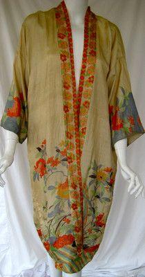 Vintage 1920s Art Deco Pongee Kimono | eBay