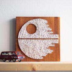 Death Star string art wall decor