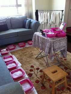 Spa party for little girls - um how about for big girls like me.  Maybe it's time to invite the ladies over for some fun.