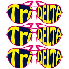Tri Delta, Sorority, Sunglasses Design, T-Shirt *All designs can be customized for your organization or chapter's needs!