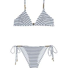 Melissa Odabash Verona Bikini ($249) ❤ liked on Polyvore featuring swimwear, bikinis, stripes, beach wear, beach swimwear, beach bikini, bikini two piece and melissa odabash bikini