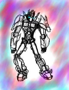Optimus Painting by OptimusKnight39.deviantart.com on @DeviantArt