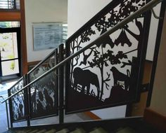 Shop decorative railing panel inserts for your loft deck or balcony custom metal railing system. Update your home with our artistic metal touch! Metal Gates, Metal Railings, Deck Railings, Stair Railing, Deck Railing Design, Gate Design, Porch Stairs, Custom Gates, Iron Work