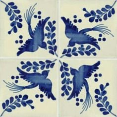 Love this design with the blue color. Perfect for our blue b… Mexican dove tiles. Love this design with the blue color. Perfect for our blue bathroom! Tile Art, Mosaic Tiles, Tiling, Wall Tiles, Love Blue, Blue And White, Le Grand Bleu, Mexican Ceramics, Tuile