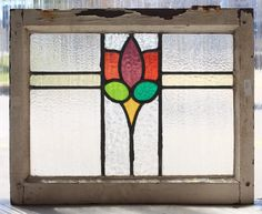 Antique Stained Glass Window Six Color Fancy Tulip | eBay, good inspiration.