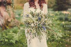 Marie Anson Photography, vintage wedding, rustic bouquet, elsham hall wedding