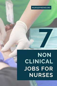 Are you a nurse and looking for a different job where you can still use your nursing skills? Thousands of nurses explore employment options outside the hospital setting, and you can too! These are the top 7 jobs for nurses who want non-clinical nursing work Nursing Career, Nursing Tips, Nursing Graduation, All Nurses, You At Work, New Nurse, Step Program, Learning To Say No, Leadership Roles