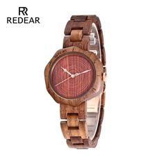 Cheap montre brand, Buy Quality montre fashion directly from China montre femme Suppliers: REDEAR Top Brand Walnut Wood Watch Women Watches Unique Fashion Women's Watches Wooden Women's Watches Clock saat montre femme Wood Anniversary Gift, Thing 1, Wooden Watch, Fashion Watches, Women's Watches, Wrist Watches, Wholesale Jewelry, Quartz Watch, Unique Jewelry