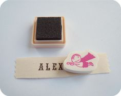 Back to School ~ Hand-Stamped Clothing Labels « Sew,Mama,Sew! Blog