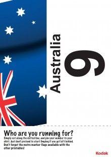 Print off this fantastic Kodak running bib, to represent Australia in the London 2012 games! iChild.co.uk