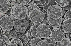 Antique silver doubloon replicas Pirate Coins, Pirates, Antique Silver, Antiques, Antiquities, Antique, Old Stuff