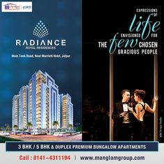 Radiance has the most sought location of Jaipur, that is Tonk Road and the upcoming Phase 2 of Jaipur Metro will make it more desirable. It's neighborhood will be world class 5 Star Hotels, Fine Dining Restaurants, Malls, Movie Theaters, Hospital etc located in the vicinity. Jaipur International Airport and Jawahar Garden Circle is literally a mile away from here.
