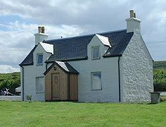 A typical Scottish croft house - the one Anna MacDonald, the female protagonist, in The House on the Shore