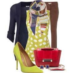 A fashion look from January 2014 featuring rayon cardigan, dot shirt and brown jeans. Browse and shop related looks. Polka Dot Scarf, Polka Dots, Texas Fashion, Autumn Winter Fashion, Winter Style, Stitch Fix Stylist, Long Sleeve Crop Top, Fashion Accessories, Fashion Looks