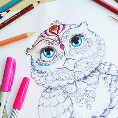 Calm your mind and soul while coloring in this beautiful owl designed by Hattifant. Free printable on Hattifant's website.