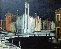 Vittorio Viviani, Burano, oil on canvas, 90x120cm, 1962.