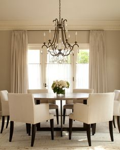 clean simple neutral dining room