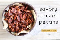 Make these savory roasted pecans for a big party, or for a one-person party that consists of you, yoga pants, and a DVR filled with RHONJ episodes. Enjoy.
