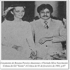 """Rosana Pereira Amazonas e Florindo Silva Nascimento. Coluna do Gil """"Gente"""" do A Crítica de 01 de fevereiro de 1981."""