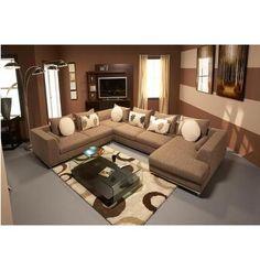 Augusto Salmon 4 Piece Power Motion Corner Sofa W Left