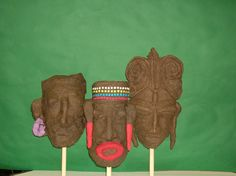 Afrikaanse maskers Afrikaans, Sugar, Carnival, Paper Mache
