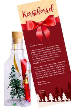 Originele zakelijke uitnodigingen voor een geslaagd kerstfeest, kerstborrel of…