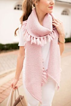pink fringe scarf | winter accessories | styling for fall and winter | how to style a fringe scarf | winter fashion | winter style | cold weather fashion || a lonestar state of southern