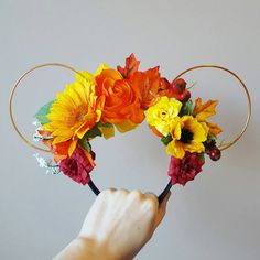 Celebrate the Arrival of Autumn With These Fall Floral Mouse Ears