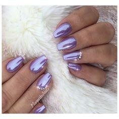 Purple Crome Nails by MargaritasNailz