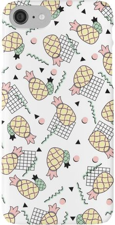 Funky tropical pineapple fruit design on iphone case with memphis inspired pattern • Also buy this artwork on beach towel, apparel, stickers, and more. @redbubble #redbubble #pineapple #tropical #tropic #beach #holiday #fruit #memphis #pattern #phonecase #iphone #accessories #phoneskin #tech #fun #funny #happy #pink #yellow #colorful #funky #tech #lifestyle #cool #summer #girly