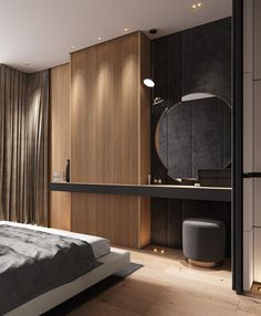 Home Designs Under 100 Sqm With L-Shape Living Spaces (Plus Floor Plans) Master Bedroom Interior, Bedroom Closet Design, Bedroom Furniture Design, Modern Bedroom Design, Home Decor Bedroom, Home Interior Design, Bedroom Ideas, Modern Bedroom Lighting, Modern Luxury Bedroom