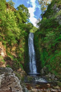 glenevin waterfall, clonmany, co. donegal