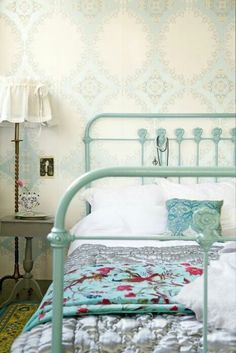 Actually bought an antique iron bed THIS color for only $60! So sad that it's not mine anymore :(