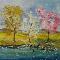 Luces en el lago, cuadro original, Óleo sobre Tabla, comprar cuadros Pastel, Gifts, Painting, Lakes, Shopping, The Originals, Nice, Scenery, Artists