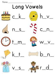 Printables Long Vowel Worksheets the long ojays and vowels on pinterest worksheet pack look at picture identify vowel sound in words