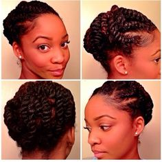 A Cute Protective Style? – 18 Flat Twist Updo Styles You Should Try [Gallery] Need A Cute Protective Style? - 18 Flat Twist Updo Styles You Should Try [Gallery]Need A Cute Protective Style? - 18 Flat Twist Updo Styles You Should Try [Gallery] Natural Hair Twists, Pelo Natural, Natural Hair Updo, Natural Hair Styles, Protective Hairstyles, Braided Hairstyles, Black Hairstyles, Protective Styles, Female Hairstyles