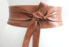 Distressed Tan Brown Leather Obi Belt Western Belt by LoveYaaYaa Tan Leather Belt, Tan Belt, Brown Belt, Cowhide Leather, Real Leather, Bridesmaid Belt, Western Belts, Belts For Women, Unique Jewelry