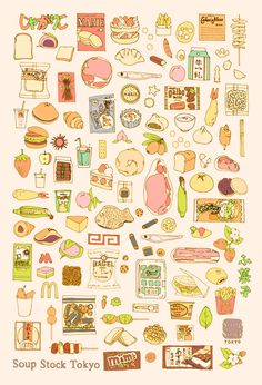 Food illustration - artist study , How to Draw Food, Artist Study Resources for Art Students, CAPI Art And Illustration, Food Illustrations, Backgrounds Wallpapers, Food Doodles, Pinterest Instagram, Food Sketch, Graphisches Design, Food Drawing, Kitchen Art