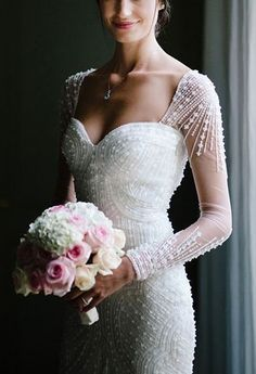 70+ Wedding Dresses With Sequins Detail Ideas 18