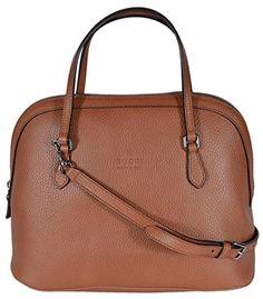 8651f66c7 Gucci Women's Medium Textured Leather Convertible Dome Handbag (Saffron Tan  420023)