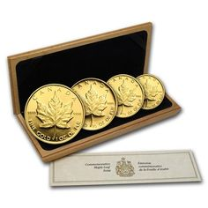 Monedas de oro Hoja de Arce Canada 1989. Proof