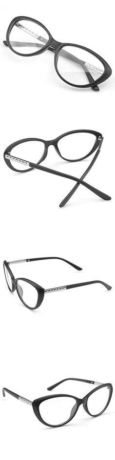 e0d0fdc3637 PenSee Womens Oval Cat Eye Retro Eyeglasses Frame Clear Lens Glasses (Matte  black)