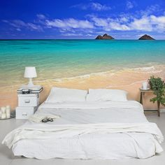 Amazon.com: Non-woven Wallpaper - Paradise Beach - Mural Wide wallpaper wall mural photo feature wall-art wallpaper murals bedroom living room: Kitchen & Dining