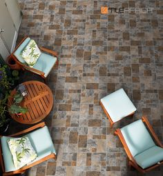 Include the ancient appeal of cobblestones in your home with a modern interpretation of the pattern for your patio. In tones inspired by Africa, this is an excellent way to bring the outdoors indoors, with style. #outofafrica #africaninspired #cobblestones #patiotiles #patioliviong #trendingdesign #trendyhome #homedecor #tiles #stonelooktiles